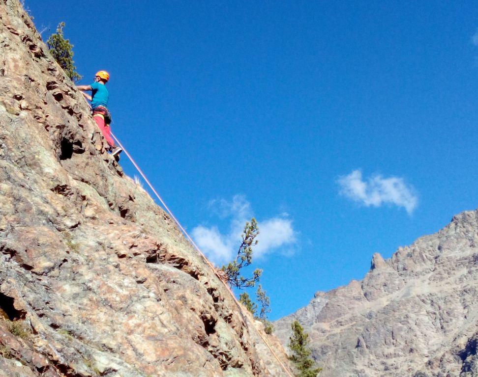 Klettersteig La Resgia : Engadin klettern outdoorhjo